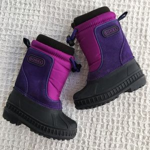 Sorel Purple Girl's Boots Size 6 Suede